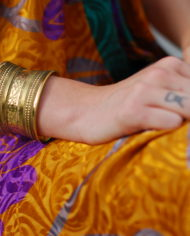 Bracelet Manchette dorée By Masala