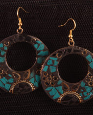 By Masala- Boucles d'oreille collage artisanal Bohemian Melody (14)