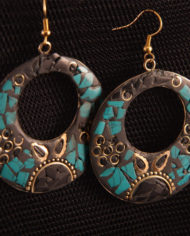 By Masala- Boucles d'oreille collage artisanal Bohemian Melody (15)