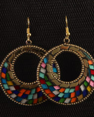 By Masala- Boucles d'oreille collage artisanal Bohemian Melody (17)