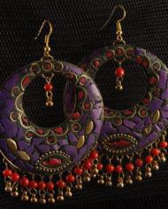By Masala- Boucles d'oreille collage artisanal Bohemian Melody (2)