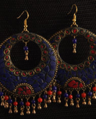 By Masala- Boucles d'oreille collage artisanal Bohemian Melody (3)