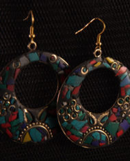 By Masala- Boucles d'oreille collage artisanal Bohemian Melody (5)