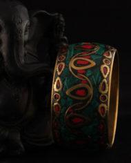 By Masala- Bracelet indien collage artisanal- Bohemian Melody (20)