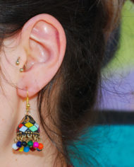 By Masala boucle d'oreille collage artisanal Bollywood addict