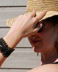 By Masala bracelet et boucle d'oreille macramé