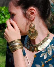 By Masala bracelet manchette doré