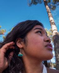 By Masala boucles d'oreilles indiennes féé clochettes (1)
