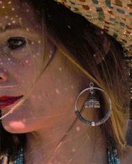 Boucles d'oreilles argentés artisanales By Masala (1)